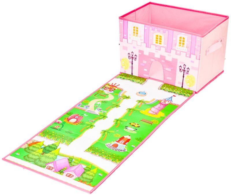 """Складной кофр-короб """"Vetta"""" необычного дизайна отлично подойдет для детской комнаты. Он выполнен из ПВХ. В кофре удобно разместятся все игрушки малыша. А необычный дизайн обязательно будет оценен маленькой принцессой."""
