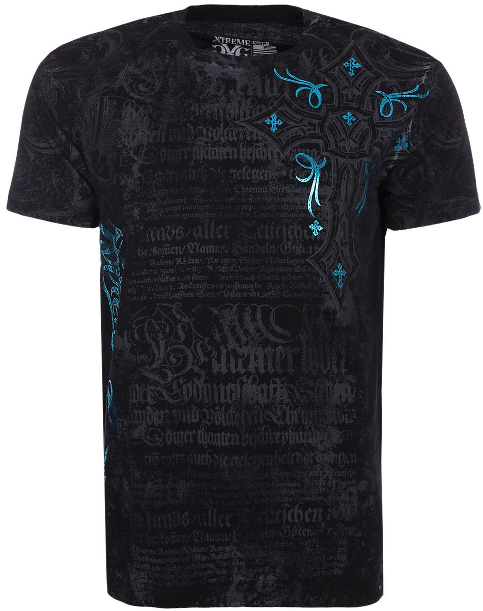 Футболка мужская Xtreme Couture Free Reign, цвет: черный. X1526. Размер XL (52)X1526_Free Reign