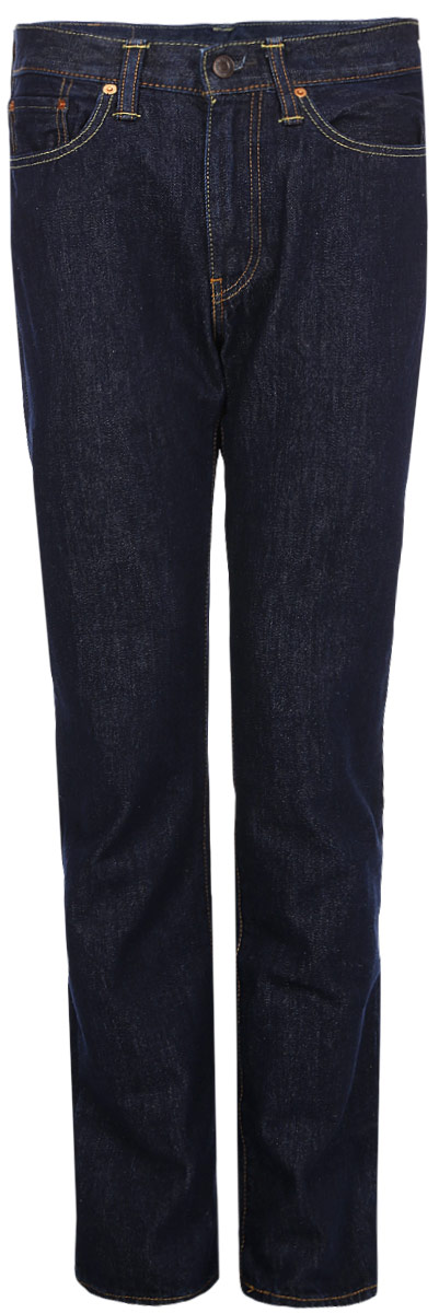 Джинсы мужские Levis® 514, цвет: темно-синий. 0051407360. Размер 32-34 (48-34)0051407360Мужские джинсы Levis® 514 выполнены из высококачественного натурального хлопка. Джинсы прямого кроя застегиваются на пуговицу в поясе и ширинку на застежке-молнии, дополнены шлевками для ремня. Джинсы имеют классический пятикарманный крой: спереди модель дополнена двумя втачными карманами и одним маленьким накладным кармашком, а сзади - двумя накладными карманами.