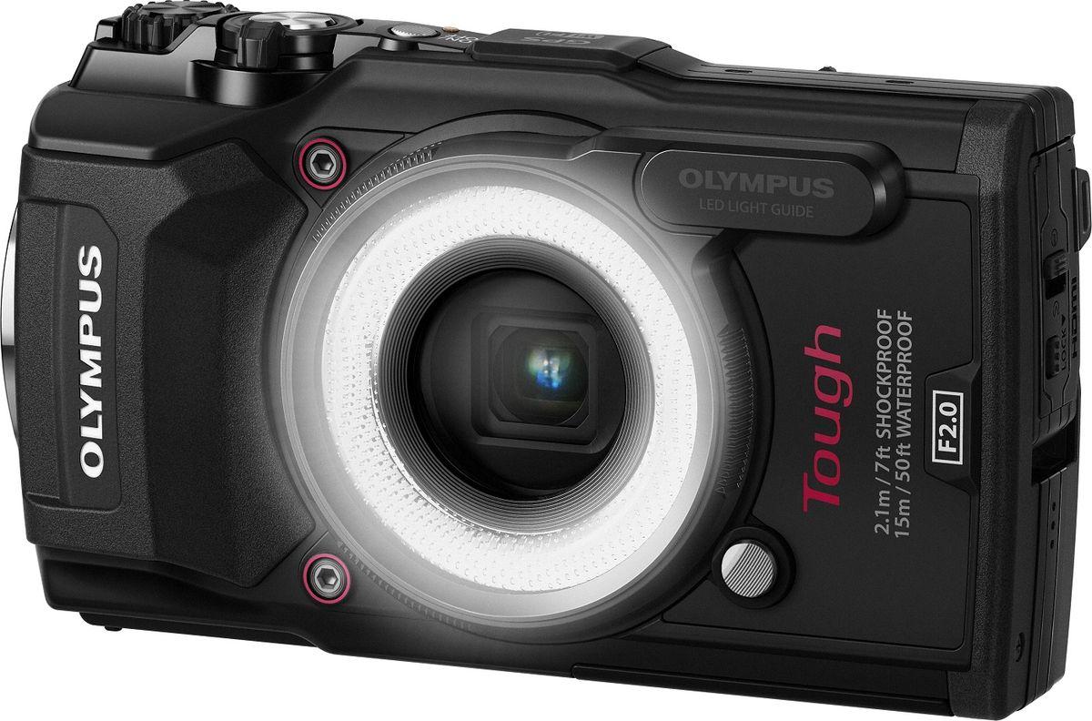 Olympus TG-5, Black цифровая фотокамера в комплекте с LG-1