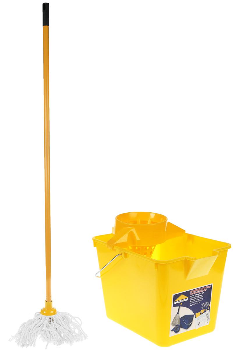 Комплект для уборки пола Rozenbal, цвет: желтый, 12 л. R211614