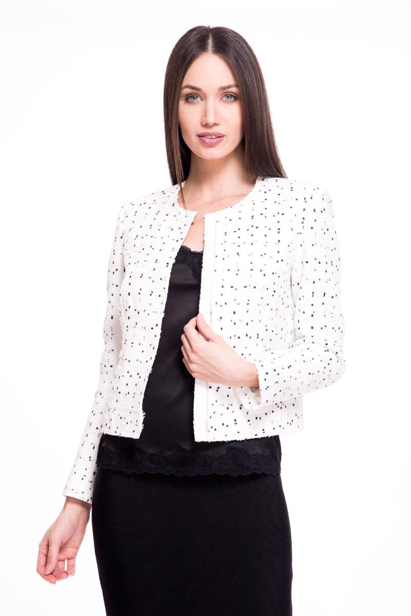 Купить Жакет женский Lusio, цвет: белый. SS18-120016. Размер XS (40/42)
