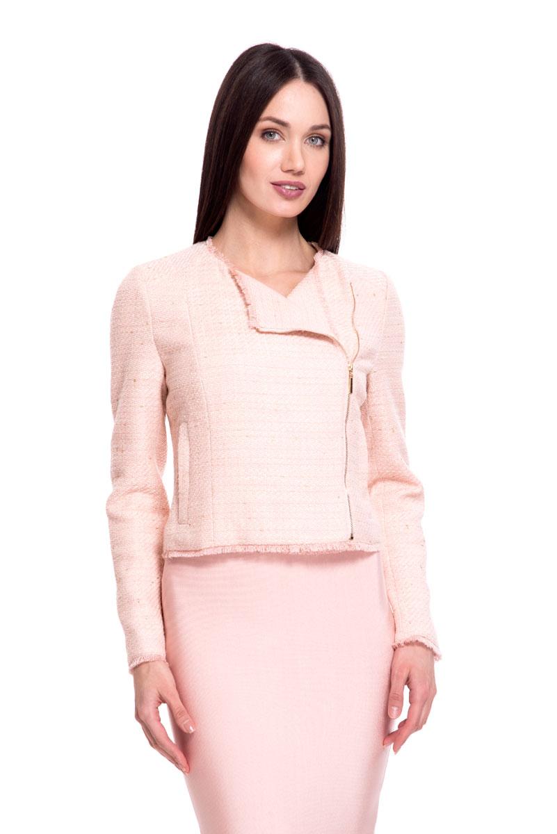 Купить Жакет женский Lusio, цвет: розовый. SS18-120002. Размер XS (40/42)