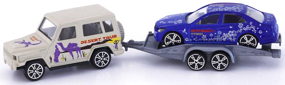 Pioneer Toys Набор машинок с прицепом 2 шт autotime набор машинок recovery truck long эвакуатор с прицепом