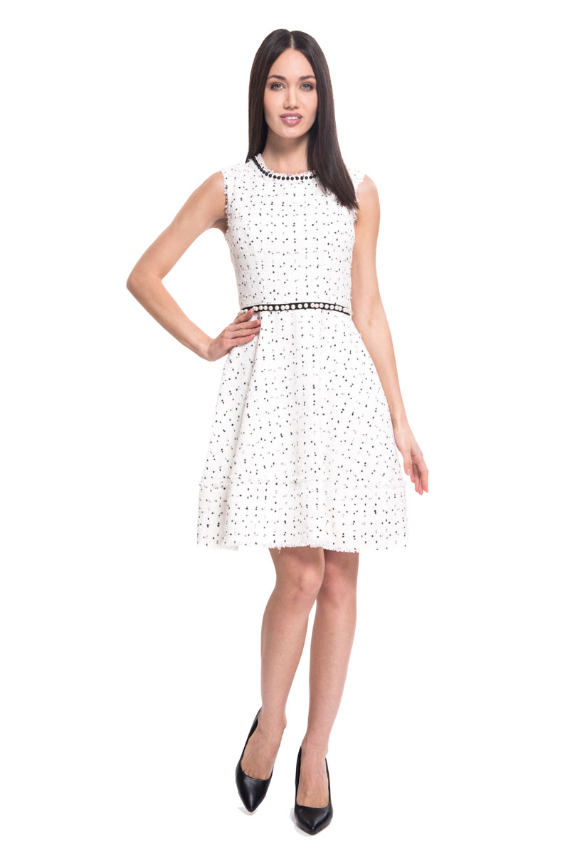 Платье Lusio, цвет: белый. SS18-020104. Размер XS (40/42)