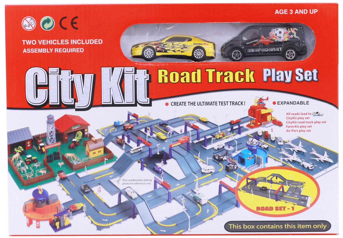 Pioneer Toys Набор машин с гаражом Road Set 1 pioneer toys набор машин фура