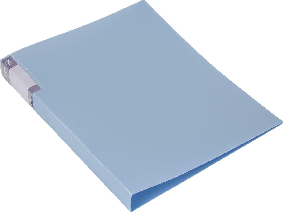 Бюрократ Папка с зажимом Gems А4 цвет голубой