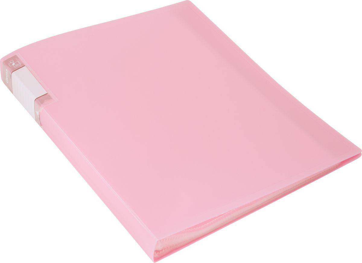 Бюрократ Папка с файлами Gems А4 40 листов цвет светло-розовый 1014860
