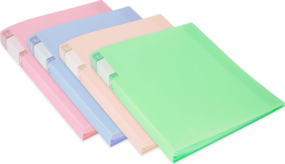 Бюрократ Папка с файлами Gems А4 40 листов цвет светло-зеленый 1014865 Бюрократ