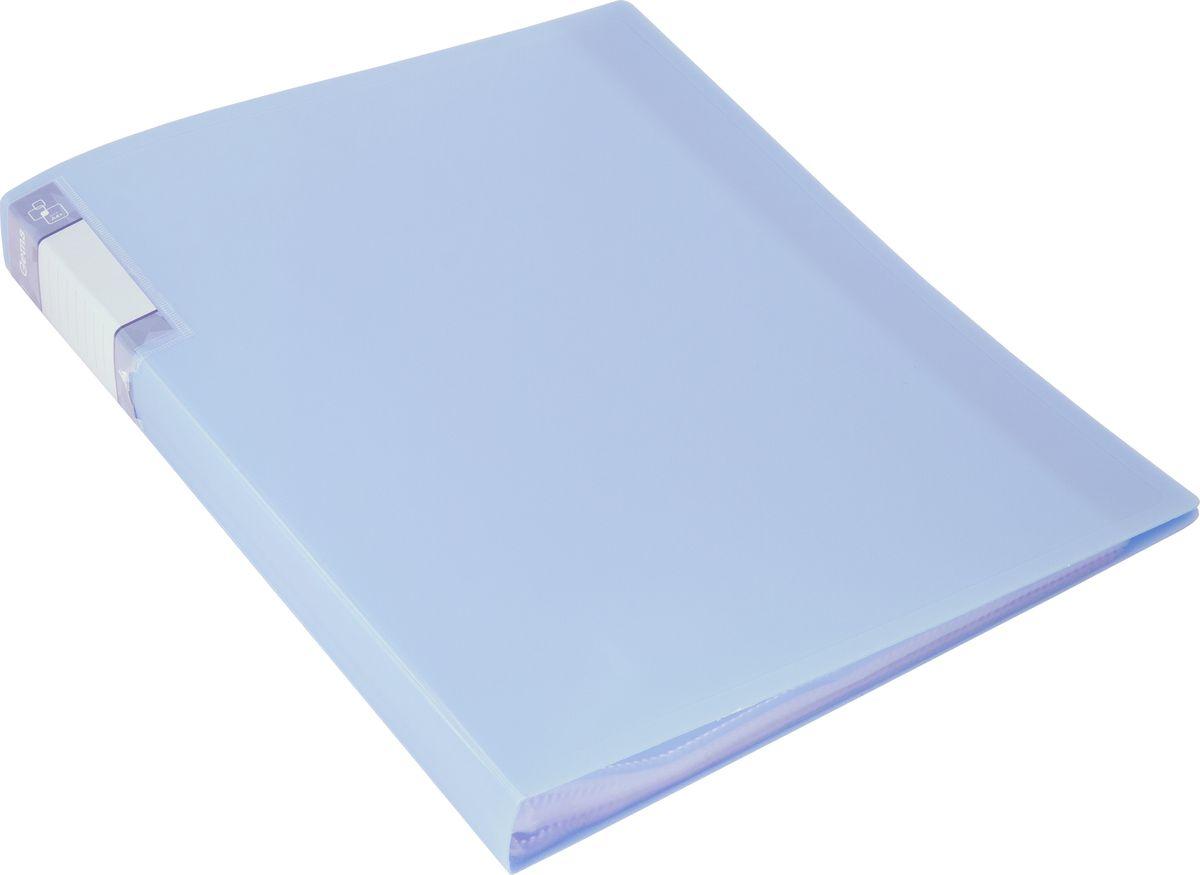 Бюрократ Папка с файлами Gems А4 40 листов цвет голубой 1014866 папка с 40 прозр вклад бюрократ crystal cr40or a4 пластик 0 5мм оранжевый