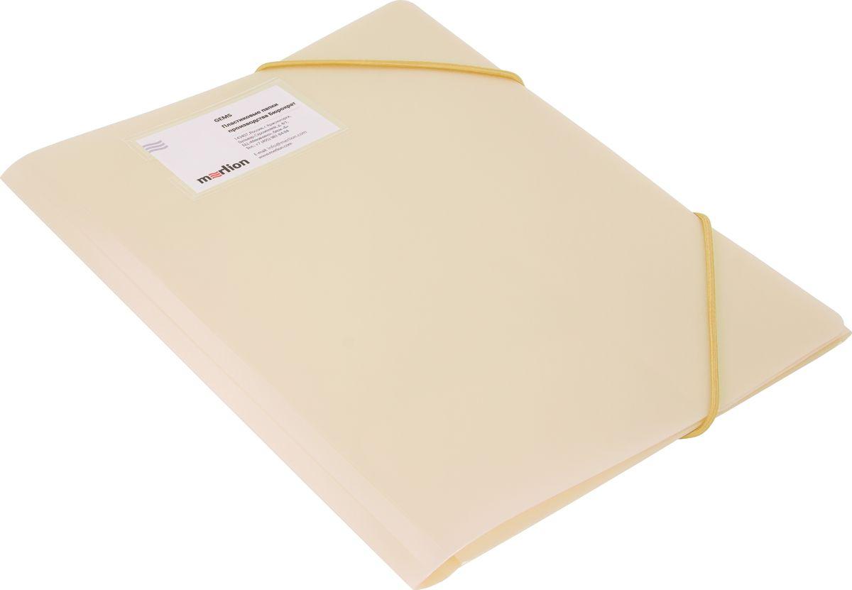 Бюрократ Папка на резинке Gems А4 цвет бежевый1014878Папка на резинке Gems - это удобный и функциональный офисный инструмент, предназначенный для хранения и транспортировки большого объема рабочих бумаг и документов формата А4. Папка на резинке надежно защитит ваши документы, корешок расширяется до 30 мм. Папка изготовлена из жесткого, но гибкого фактурного пластика и закрывается при помощи угловых резинок. Резинки не позволят папке раскрыться в неподходящий момент.Папка надежно сохранит ваши документы и сбережет их от повреждений, пыли и влаги.