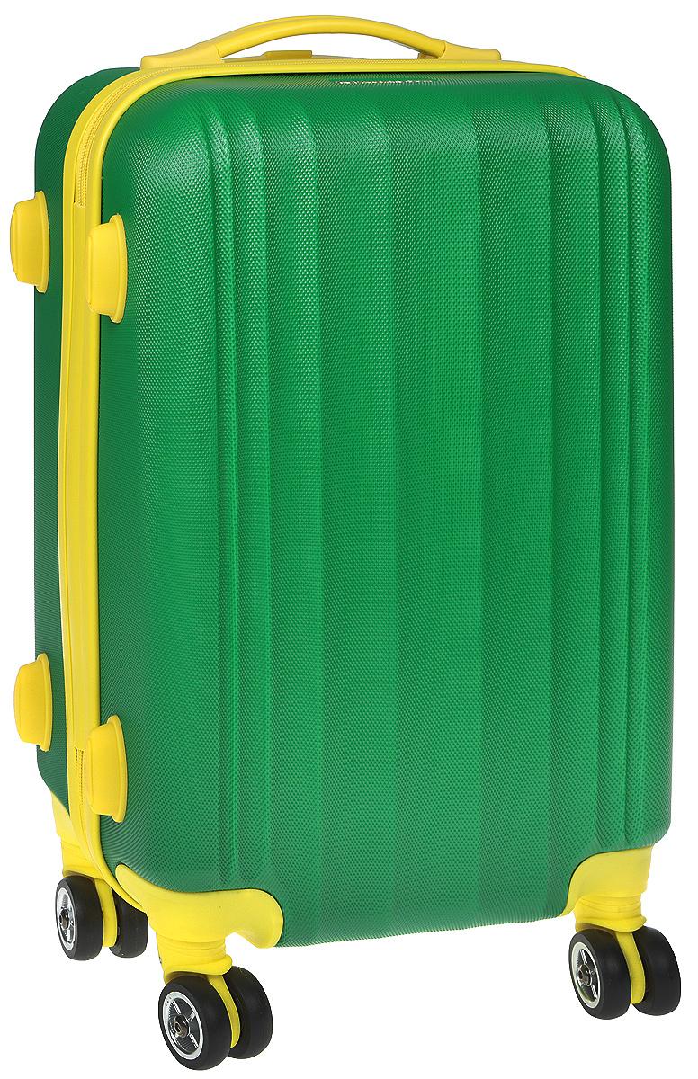 Чемодан Everluck, цвет: зеленый, желтый, 35 лER/ABS1869 50 cm greenСуперлегкий пластиковый чемодан Everluck. Материал ABS- пластик максимально устойчив кдеформации. Кроме того, он обладает повышенной гибкостью, что позволяет материалу неломаться и не трескаться при внешних нагрузках. Чемодан отлично подходит для перевозкихрупких вещей. Пластик отлично защищает внутреннее содержание от любых внешнихвоздействий.Чемодан с четырьмя колесами на основании, вращающимися на 360 градусов, маневренный иудобный в обращении. Можно просто выдвинуть ручку и катить его рядом с собой в любомнаправлении, при этом не будет никакой нагрузки на кисть, что очень важно, если чемодан у васбольшой и тяжелый.Выдвижная ручка (выдвигается в два сложения на 55 см). Внутри: портплед, карман из сетки намолнии, фиксатор с зажимом для ваших вещей. Дополнительный карман для вещей и карман- сетка, закрываются на молнию.Чемодан оснащен кодовым замком TSA, который исключает возможность взлома. Отверстие дляключа в кодовом замке предназначено для работников таможни (открытие багажа для досмотрабез присутствия хозяина). Ключ находится только у таможни и в комплекте с чемоданом не идет.Размер: 50 х 35 х 22 см. Объем 35 л.