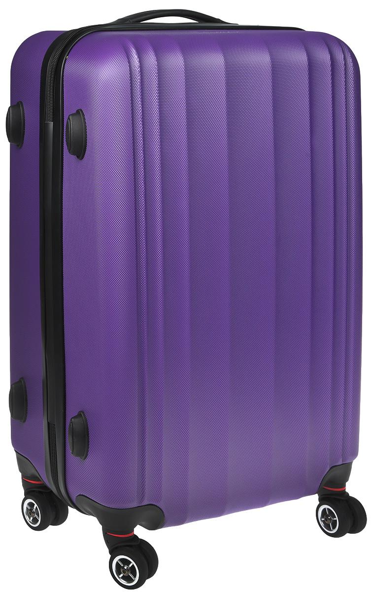 Чемодан Everluck, цвет: лиловый, черный, 60 х 43 х 22 смER/ABS1869 60 cm lilasСуперлегкий пластиковый чемодан Everluck. Материал ABS- пластик максимально устойчив кдеформации. Кроме того, он обладает повышенной гибкостью, что позволяет материалу неломаться и не трескаться при внешних нагрузках. Чемодан отлично подходит для перевозкихрупких вещей. Пластик отлично защищает внутреннее содержание от любых внешнихвоздействий.Чемодан с четырьмя колесами на основании, вращающимися на 360 градусов, маневренный иудобный в обращении. Можно просто выдвинуть ручку и катить его рядом с собой в любомнаправлении, при этом не будет никакой нагрузки на кисть, что очень важно, если чемодан у васбольшой и тяжелый.Выдвижная ручка (выдвигается в два сложения на 42 см). Внутри: портплед, карман из сетки намолнии, фиксатор с зажимом для ваших вещей. Дополнительный карман для вещей и карман- сетка, закрываются на молнию.Чемодан оснащен кодовым замком TSA, который исключаетвозможность взлома. Отверстие для ключа в кодовом замке предназначено для работниковтаможни (открытие багажа для досмотра без присутствия хозяина). Ключ находится только утаможни и в комплекте с чемоданом не идет.Размер: 60 х 43 х 22 см.