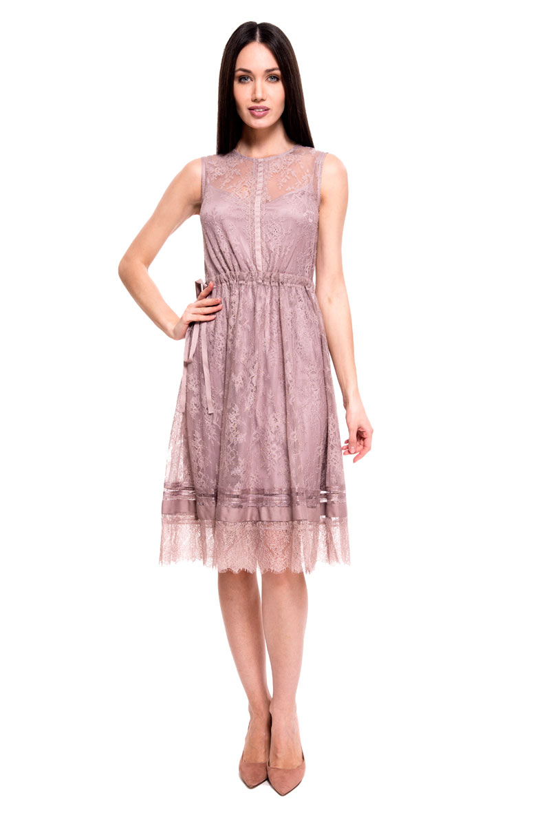 Платье Lusio, цвет: лиловый. SS18-020051. Размер XS (40/42)