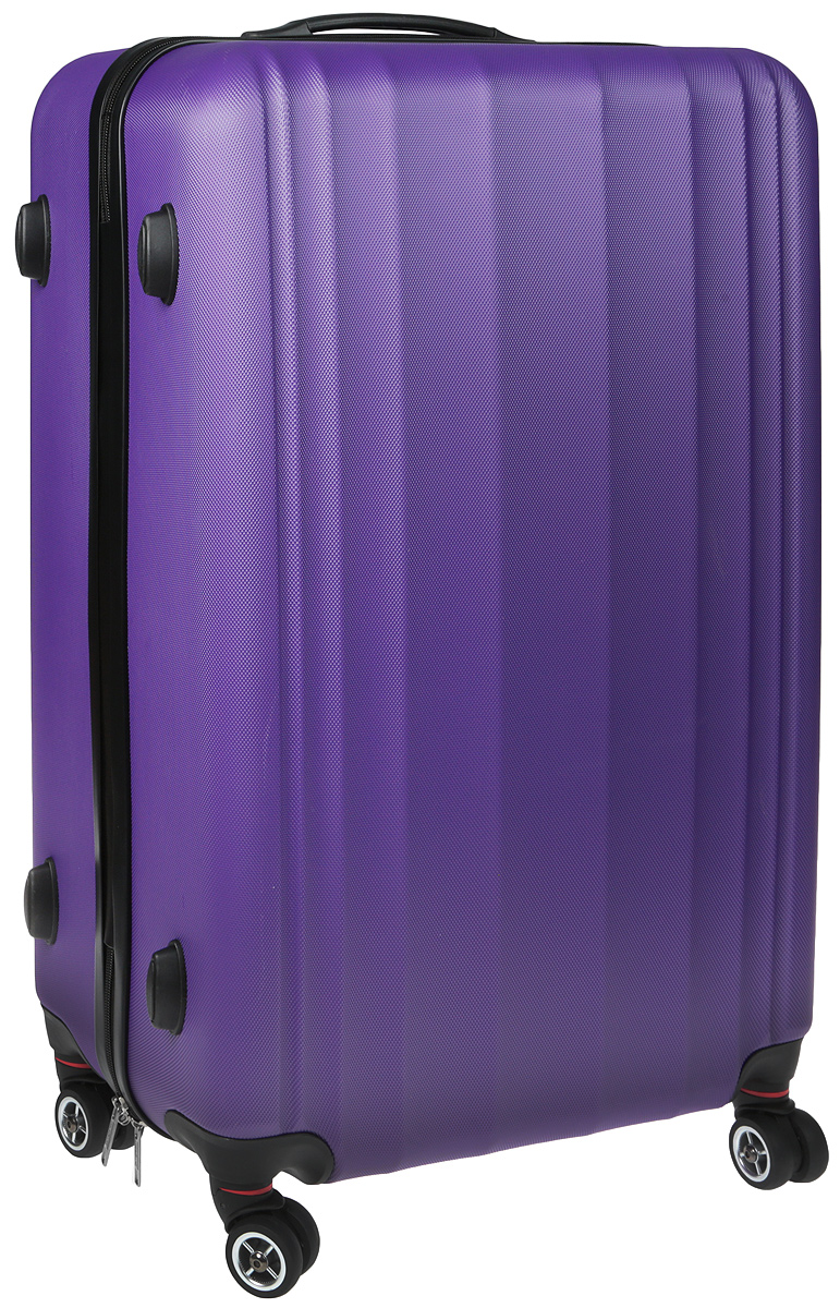Чемодан Everluck, цвет: лиловый, черный, 82 л чемодан samsonite чемодан 80 см pro dlx 4