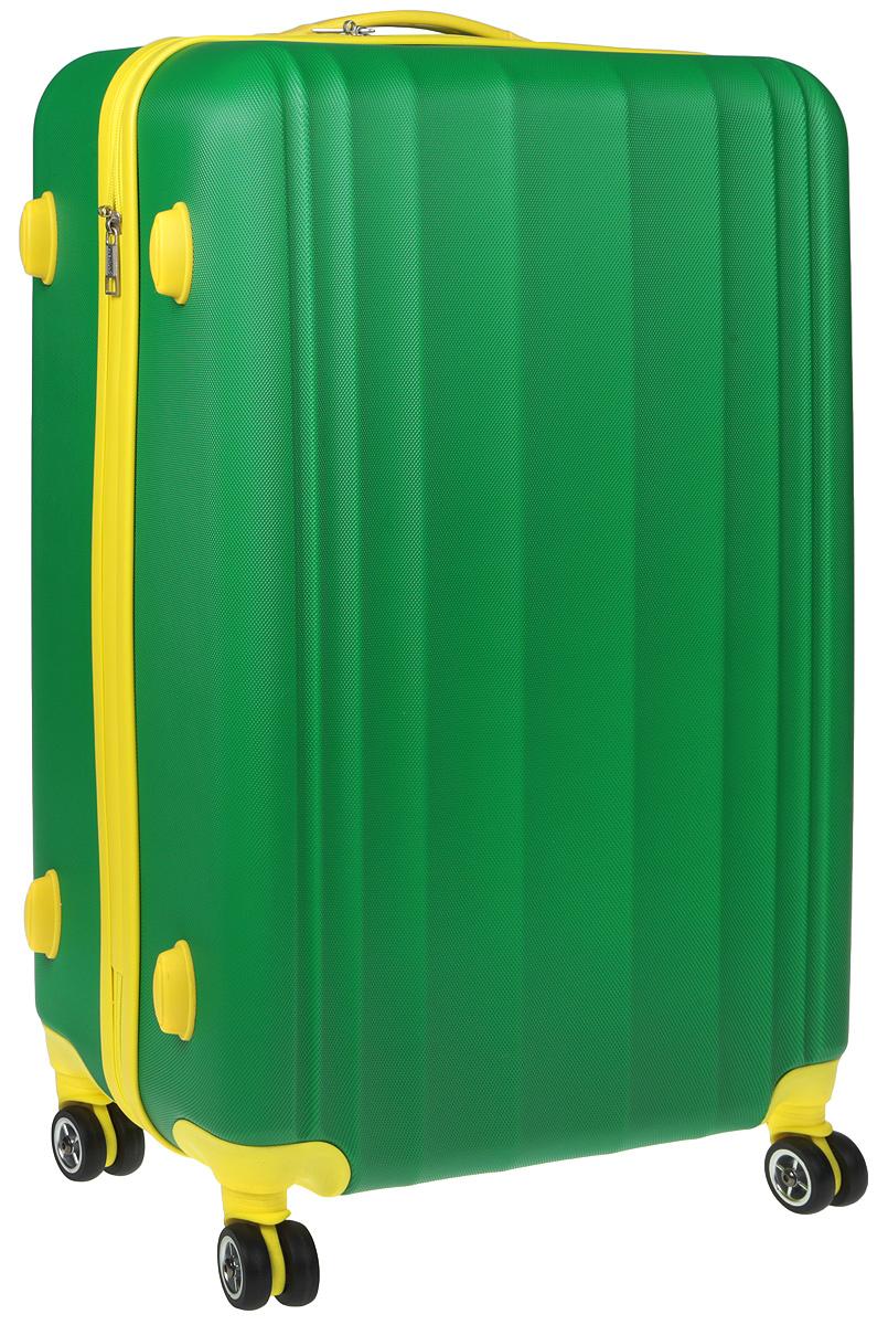 Чемодан Everluck, цвет: зеленый, желтый, 82 л чемодан samsonite чемодан 80 см pro dlx 4