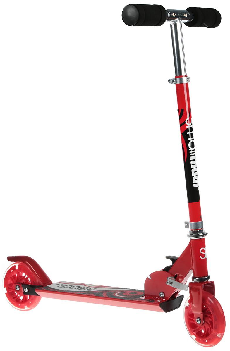 Самокат-снегокат Small Rider Combo Runner 120, с лыжами и колесами, цвет: красный1373665Смолл Райдер Комбо Раннер - это больше чем самокат! Вы легко и быстро с помощью шестигранного ключа сможете сменить колеса на лыжи и обратно.Подходит для детей различного возраста. Он рассчитан на детей от 5 лет до 10 лет. Максимальная нагрузка - до 60 кг. С помощью зажима Вы сможете отрегулировать высоту ручки под рост своего ребенка. Новые ощущения. Кататься на самокате с лыжами - это новые ощущения! Ваш ребенок может бегать по заснеженным дорожкам или съезжать с некрутых горок. Ваш любимый самокат будет продолжать служить Вам и зимой! Современные функции. Светящиеся колеса любят все. Это необычно и красиво. Так что, даже если Вам не понравится кататься на лыжах (что вряд ли), то Вы будете иметь полноценный самокат с классными колесами в любом случае.Самокат удобно и просто складывается, ручки вынимаются, сзади есть ножной тормоз.Рукоятки сделаны из специального мягкого противоударного материала типа губка.Оригинальный подарок.Подарите ребенку вещь с изюминкой, и он будет в восторге от интересного подарка.Преимущества:1) Можно кататься круглый год! Товар отлично продается круглый год. Лыжи и колеса идут в комплекте; 2) Колеса - светятся (мигают разноцветными огнями во время движения); 3) Лыжи имеют специальную форму: передняя лыжа - более вытянутая, задняя - более широкая. 4) Самокат легко складываются, рукоятки вынимаются; 5) Интересный дизайн, популярные цвета - красный и зеленый.Параметры:1. Вес самоката с лыжами - 1,76 кг. 2. Длина и ширина платформы - 9,5x35,5 см. 3. Максимальная высота ручки - 83 см 4. Минимальная высота ручки - 63 см 5. Функция сложения - есть 6. Задний тормоз - есть 7. Размер колеса - 120 мм 8. Длина передней лыжи - 37,5 см 9. Длина задней лыжи - 41,5 см 10. Регулировка высоты руля - есть 11. Тип рукояток - противоударная губка 12. Возможность снятие рукояток - есть