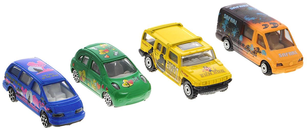 Pioneer Toys Набор машин 4 шт PT2050 pioneer toys набор машин фура
