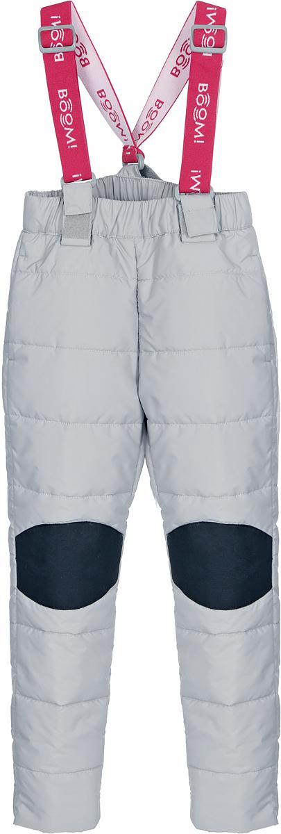 Брюки для девочки Boom!, цвет: серый. 80023_BOG. Размер 12280023_BOGСтеганные брюки для девочки Boom! выполнены из высококачественного материала. Зона коленей усилена износостойкой тканью таслан для защиты от истирания. Стильная, слегка зауженная к низу модель дополнена двумя боковыми карманами.
