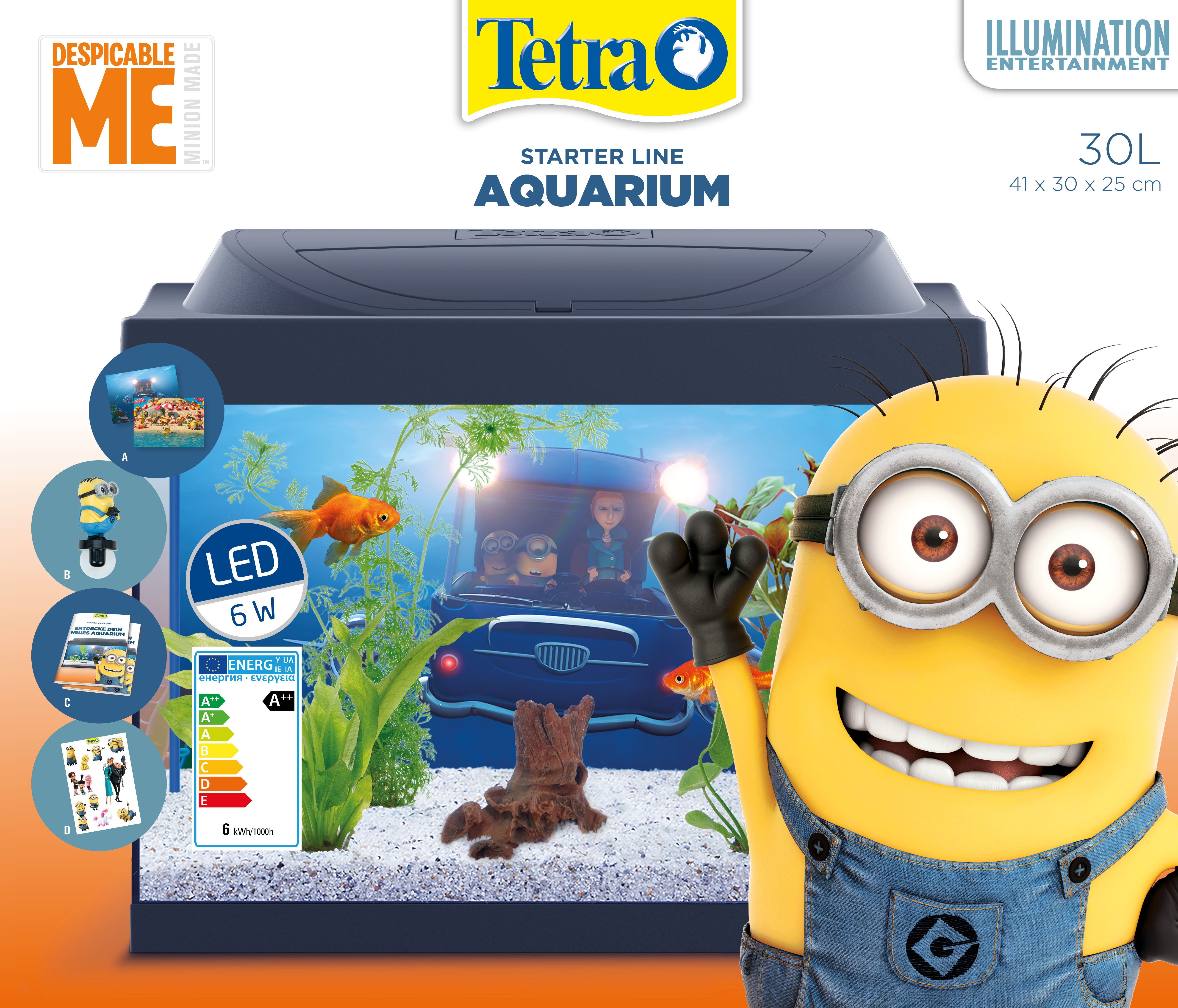 Аквариумный комплекс Tetra Миньоны Goldfish, с LED освещением, 30 л корм tetra tetramin xl flakes complete food for larger tropical fish крупные хлопья для больших тропических рыб 10л 769946
