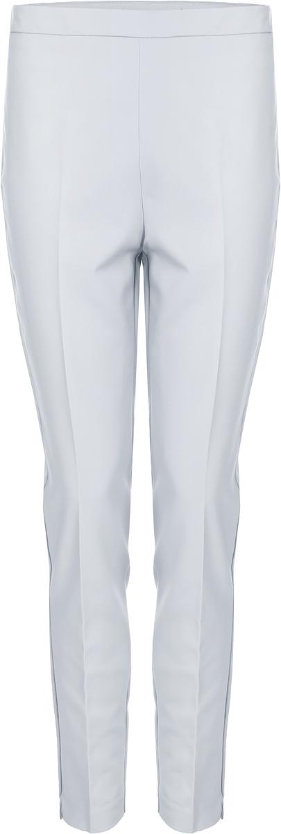 Брюки женские Vero Moda, цвет: серый. 10188388_High-Rise. Размер 4610188388_High-RiseСтильные однотонные брюки, выполненные из эластичного комбинированного материала, отлично дополнят ваш гардероб. Модель зауженного кроя сзади дополнена имитацией двух прорезных карманов.