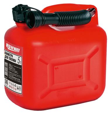 Канистра для топлива Runway Racing, цвет: красный, 5 л канистра пластиковая phantom для гсм 5 л
