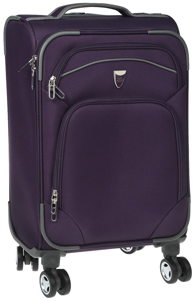 Чемодан мягкий Polar, на колесах, цвет: фиолетовый, 37,5 л. Р4102 (20)Р4102 (2-й) 20Супер-легкий чемодан Polar. Основное отделение на подкладке из нейлона имеет фиксирующие ремни. Ручка выдвигается на 50 см, расположена внутри корпуса чемодана, что способствует большей прочности и защите от ударов при разгрузке/погрузке чемодана. Снаружи на передней стенке - два больших кармана на молнии. Надежные четыре колеса на подшипниках вращаются на 360 градусов. Кодовый замок в комплект не входит. Можно отдельно приобрести кодовый навесной замок.Вес: 2,4 кг; объем: 37,5 л.Размер: 34 х 48 х 23 см.Как выбрать чемодан. Статья OZON Гид