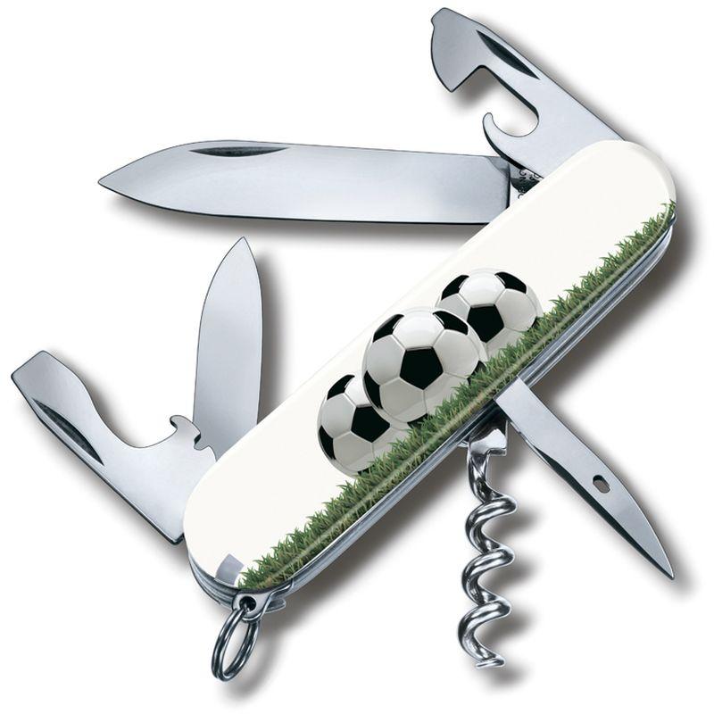 Нож перочинный Victorinox Spartan. Футбольное поле, 12 функций, 9,1 см