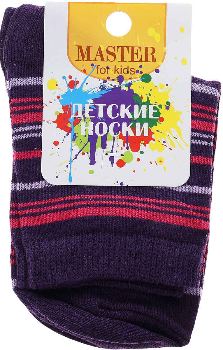Носки детские Master Socks, цвет: сиреневый. 52064. Размер 18