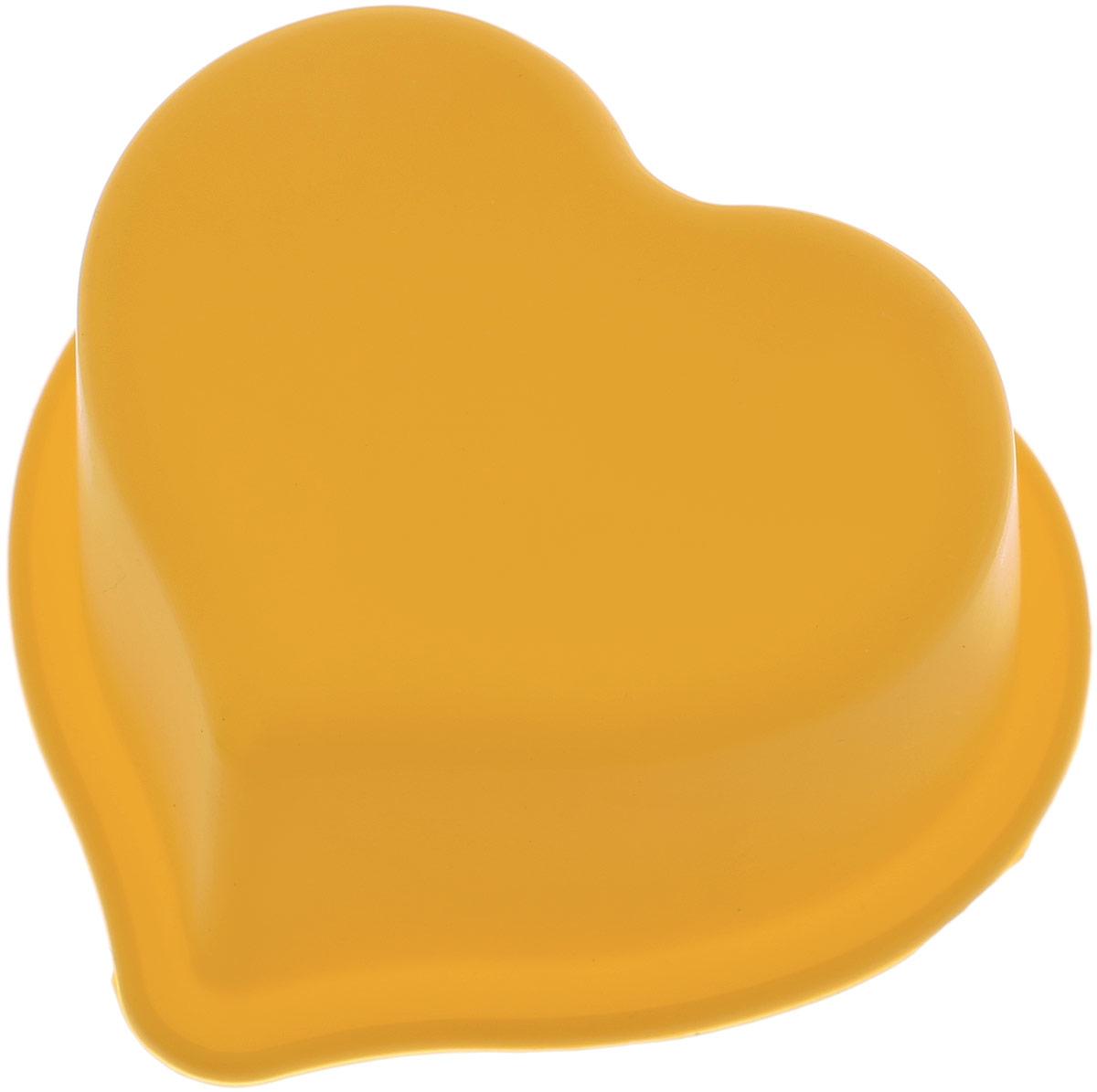Форма для выпечки Доляна Сердечко, цвет: желтый, 8 см651930_желтыйФорма для выпечки из силикона - современное решение для практичных и радушных хозяек. Оригинальный предмет позволяет готовить в духовке любимые блюда из мяса, рыбы, птицы и овощей, а также вкуснейшую выпечку.Почему это изделие должно быть на кухне? - блюдо сохраняет нужную форму и легко отделяется от стенок после приготовления; - высокая термостойкость (от -40°C до 230°C) позволяет применять форму в духовых шкафах и морозильных камерах; - небольшая масса делает эксплуатацию предмета простой даже для хрупкой женщины; - силикон пригоден для посудомоечных машин; - высокопрочный материал делает форму долговечным инструментом; - при хранении предмет занимает мало места.Советы по использованию формы: Перед первым применением промойте предмет теплой водой. В процессе приготовления используйте кухонный инструмент из дерева, пластика или силикона. Перед извлечением блюда из силиконовой формы дайте ему немного остыть, осторожно отогните края предмета.Готовьте с удовольствием! Как выбрать форму для выпечки – статья на OZON Гид.
