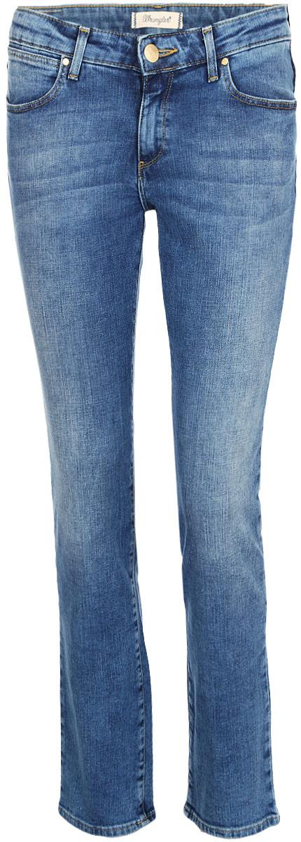 Джинсы женские Wrangler Straight, цвет: синий. W28T9194O. Размер 34-32 (50-32)W28T9194O