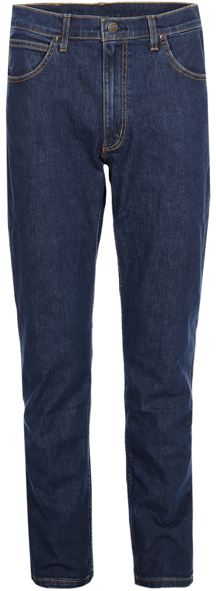 Джинсы мужские Wrangler Spenser, цвет: синий. W16A23090. Размер 30-32 (46-32)W16A23090Джинсы от Wrangler выполнены из эластичного хлопкового денима. Модель прямого кроя с заниженной посадкой в поясе застегивается на пуговицу и имеет ширинку на молнии и шлевки для ремня. Джинсы имеют классический пятикарманный крой.