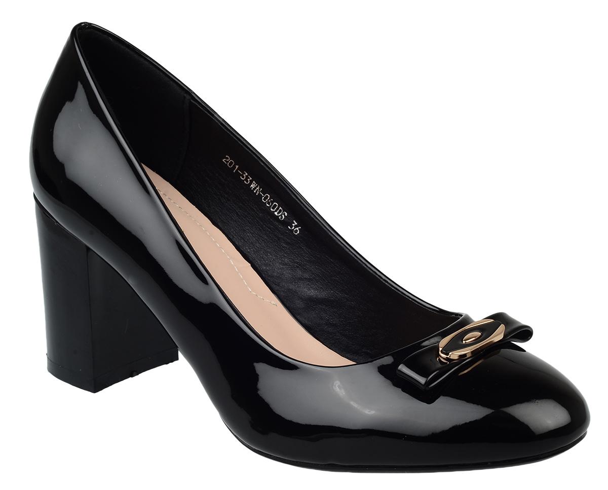 Туфли женские Zenden, цвет: черный. 201-33WN-060DS. Размер 37
