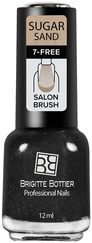 Brigitte Bottier лак для ногтей Sugar Sand тон 301 искрящийся графит, 12 мл