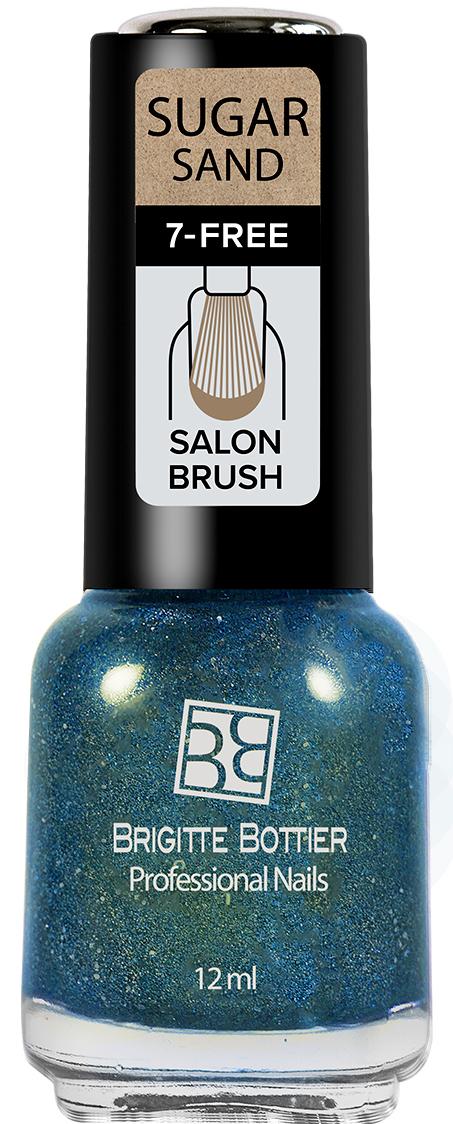 Brigitte Bottier лак для ногтей Sugar Sand тон 304 искрящийся голубой, 12 мл