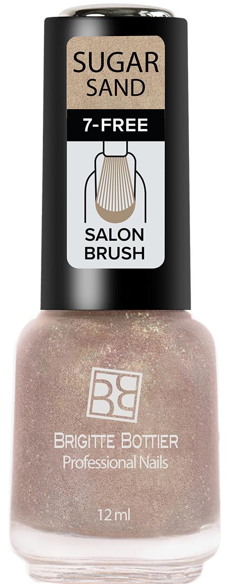 Brigitte Bottier лак для ногтей Sugar Sand тон 308 искрящийся розовый, 12 мл