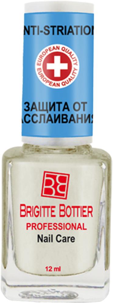 Brigitte Bottier лечебное средство для ногтей (07) Против слоящихся и бороздчатых ногтей Natural Anti-Striation, 12 млBB-РNC/07Высокоэффективное быстросохнущее средство для неровных, слоящихся ногтей. Терапевтический препарат, созданный на основе экстракта морских водорослей, содержит соли натрия, калия, магния, железа, цинка, а также протеины, аминокислоты и полисахариды, незаменимые жирные кислоты (линолевую, линоленовую), витамины - антиоксиданты Е и С, каротин. Препарат превращает ногтевую пластину в идеально ровную, заполняя все малейшие дефекты, предохраняет от появления желтизны, придавая ногтям мягкий голубоватый оттенок, а лечебная формула действует таким образом, что вновь образующаяся ногтевая пластина растет здоровой и гладкой.