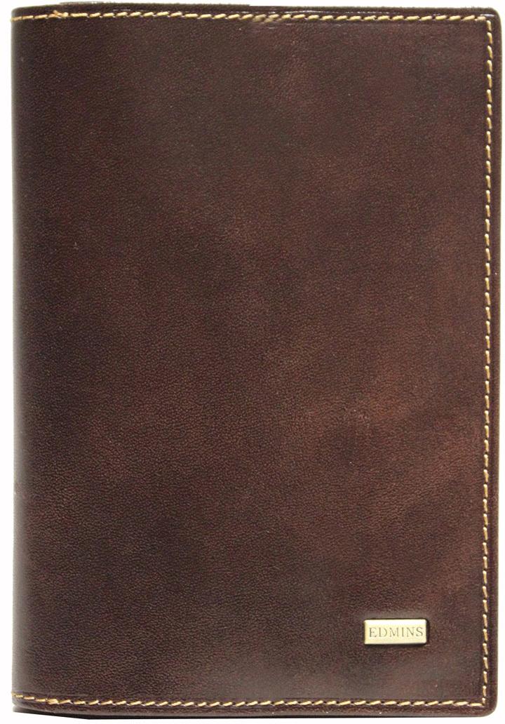 Обложка для документов мужская Edmins, цвет: коричневый. 1424 ML ED brown