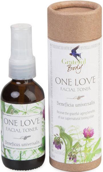 Grateful Body Органический тонер Единственная любовь, 60 млTO99% ингредиентов органического происхождения. Уникальный тонизирующий элексир, смесь важных питательных веществ для вашего лица.Изобилие ценных растений в составе помогает поддерживать молодость, упругость и эластичность кожи, обеспечивает устойчивую питательную гидратацию, очищает и поддерживает баланс жира в порах.Стабилизирующая, многогранная формула содержит высокоэффективную смесь грибов, фруктовых и овощных соков, морских водорослей и целебных корней редких растений. Поддерживает красивую кожу в любом возрасте! Для всех типов кожи.99% ингредиентов органического происхождения. Уникальный тонизирующий элексир, смесь важных питательных веществ для вашего лица.Изобилие ценных растений в составе помогает поддерживать молодость, упругость и эластичность кожи, обеспечивает устойчивую питательную гидратацию, очищает и поддерживает баланс жира в порах.Стабилизирующая, многогранная формула содержит высокоэффективную смесь грибов, фруктовых и овощных соков, морских водорослей и целебных корней редких растений. Поддерживает красивую кожу в любом возрасте! Для всех типов кожи.