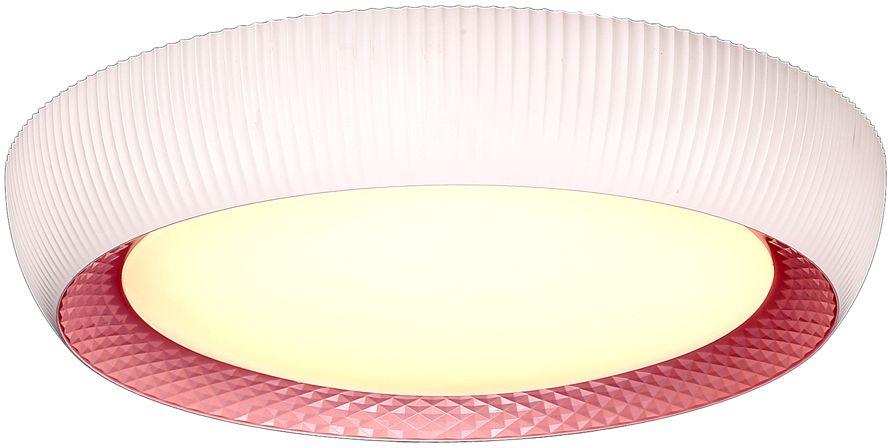 Люстра Максисвет Панель, 1 х LED, 21W. 1-7160-WH+PK LED1-7160-WH+PK LEDСерия ярких ультрамодных потолочных светильников в коллекции Панели:- серия представлена в трех цветах корпуса – голубой, розовый, золотой- светильники идеально подойдут для освещения детских