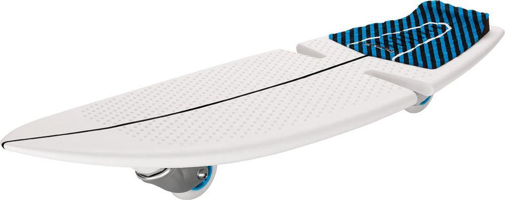 Скейтборд Razor RipSurf, двухколесный051403SurfWhereYouLive - именно такой хэштег ставят посвященные серферы там, где они живут и катаются по волнам. Запатентованный дизайн рипсерфа позволяет райдерам кататься по жесткому покрытию скейт-парка или дорожке в городском парке, словно по волнам, прям как настоящий серфер! Стиль рипстика RipSurf остался неизменен - те же два колеса, которые расположены под острым углом к земле; да и жесткая платформа для ног - дека, выполненная из высококачественного полипропилена: он очень крепкий и хорошо гнется. В качестве усиления сделаны специальные ребра жесткости. Серфи там, где ты живешь!От 7 лет Подходит под рост от 100 до 200 см. Вес рипсерфа 2,38 кг. Максимальная нагрузка 100 кг. Запатентованные технологии RipStik (технология кручения полипропиленовой основы) Легкий цельный армированный полимер промышленного класса Текстурированная поверхность под заднюю ногу, для лучшей устойчивости Наклонные уретановые колеса, вращающиеся на 360 градусов Общая длина деки 82 см., ширина деки 28 см. Дополнительное запасное колесо в комплекте В комплекте яркие красивые наклейки на вашу доску Сборка не требуется Поставляется в красивой подарочной упаковке Гарантия 6 месяцев