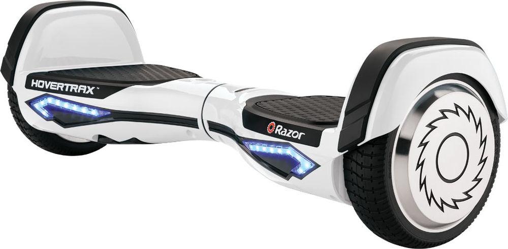 Гироскутер Razor Hovertrax 2.0, цвет: белый021706Инновационное устройство для передвижения по городу - гироскутер RazorHovertrax 2.0! Легкий транспорт будущего со встроенным гироскоп-датчикомтеперь доступен в оригинальном исполнении, с запатентованнымитехнологиями от Razor. Теперь вы можете приобрести настоящий,качественный продукт от знаменитого американского бренда самокатов.Hovertrax идеально синхронизирован с вашими ногами. Любое ваше движениеног передается сразу в движение на ровной поверхности. Вы можете быстроехать по прямой, преодолевая небольшие городские препятствия, или жеустроить показательные выступления для друзей и зевак, вращаясь нагироскутере на 360 градусов, или эффектно заходить в повороты спинойвперед. Катаясь на гироскутереRazor Hovertrax 2.0, вы как будто летите надземлей. Езда очень плавная, бесшумная и быстрая. Имея под капотом паруэлектромоторов и литий-ионный аккумулятор от LG, вы можете получить до2 часов футуристического удовольствия! Razor Hovertrax 2.0 имеетзапатентованные технологии для балансировки райдера. Эксклюзивная технология EverBalance™ обеспечивает интеллектуально- спроектированную самобалансировку для более легкого управления иплавного хода, каждый раз, каждый день. Гироскутер станет вашим спутником для передвижения по городу и прогулокв парке!От 8 лет. Вес гироскутера: 12,3 кг. Максимальная нагрузка 100 кг. Максимальная скорость 13 км/час. Быстрозаряжаемый аккумулятор LG: литий-ионный на 36V, 2,5Ач. До 115 минут непрерывной работы (2 часа работы!). Индикатор уровня заряда аккумулятора. Индикатор уровня баланса (встроенный гироскоп). Небьющееся полимерная рама (пластиковый корпус). Тихие, двойные двигатели, по одному на каждое колесо. Мощность каждого двигателя 135 Вт, пиковая мощность 350 Вт. Технология гироскопического датчика, самобалансировка. Управление и маневрирование при помощи ног. Противоскользящие платформы для ног. Резиновые колеса с алюминиевым диском, диаметром 6,5 дюймов. Режим обучения, режим обычной, нормальн