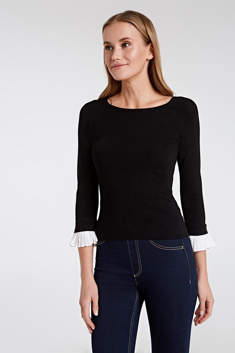 Джемпер женский Concept Club Rodos, цвет: черный. 10200310165_100. Размер XL (50)