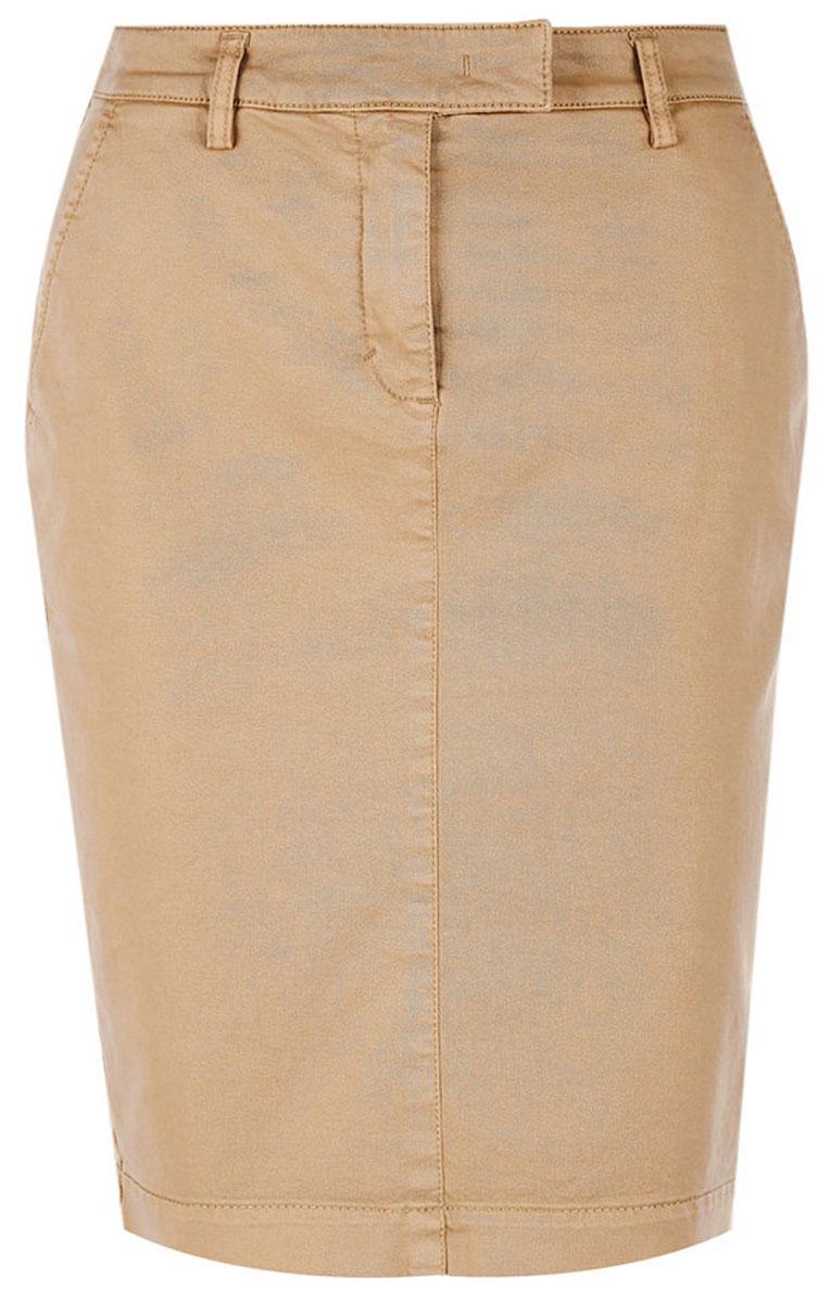 Юбка United Colors of Benetton, цвет: оливковый. 4GD5504Z4_95A. Размер 44 (46)4GD5504Z4_95AЮбка от United Colors of Benetton выполнена из эластичного хлопка. Модель облегающего кроя в поясе застегивается на брючный крючок и имеет ширинку на молнии и шлевки для ремня. По бокам юбка дополнена втачными карманами со скошенными краями, сзади – прорезными карманами.