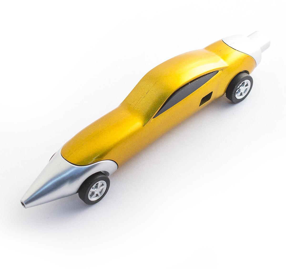 Эврика Ручка шариковая Авто №11 цвет корпуса желтый