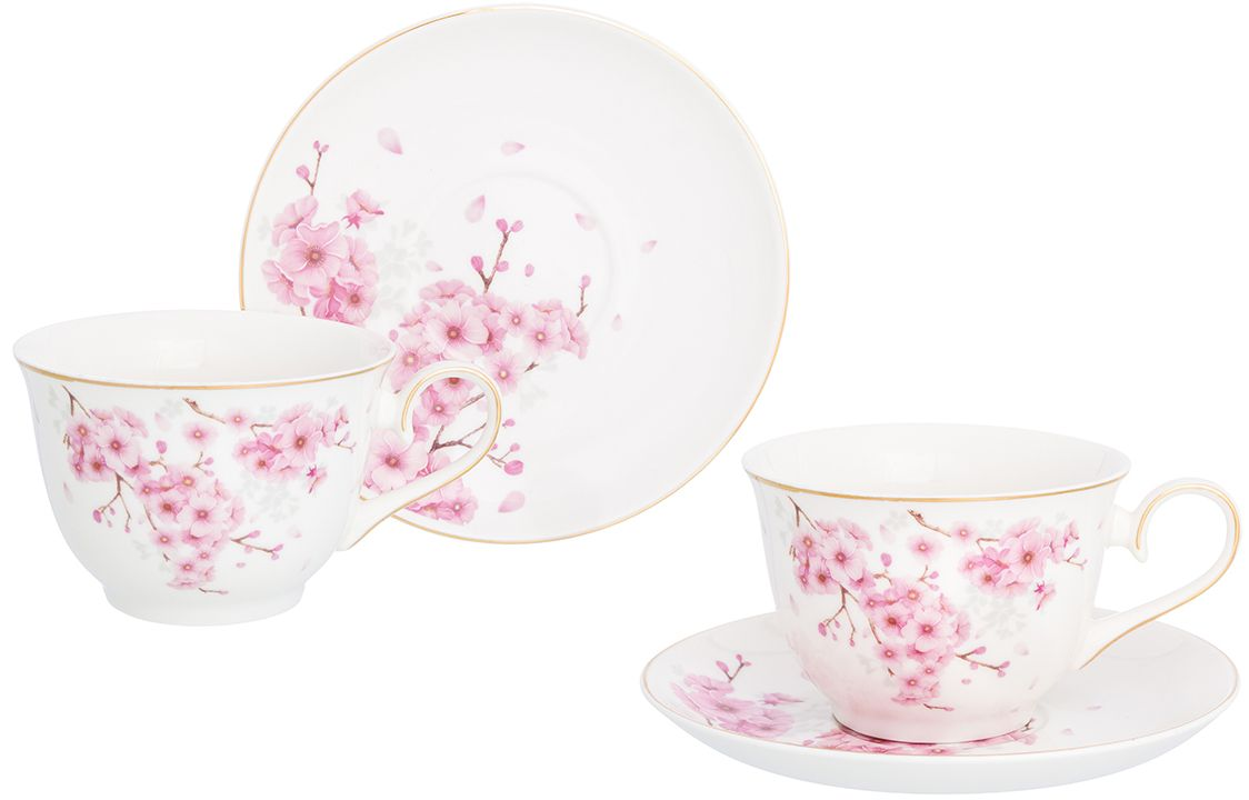Набор чайный Elan Gallery Цветущая сакура, 4 предмета