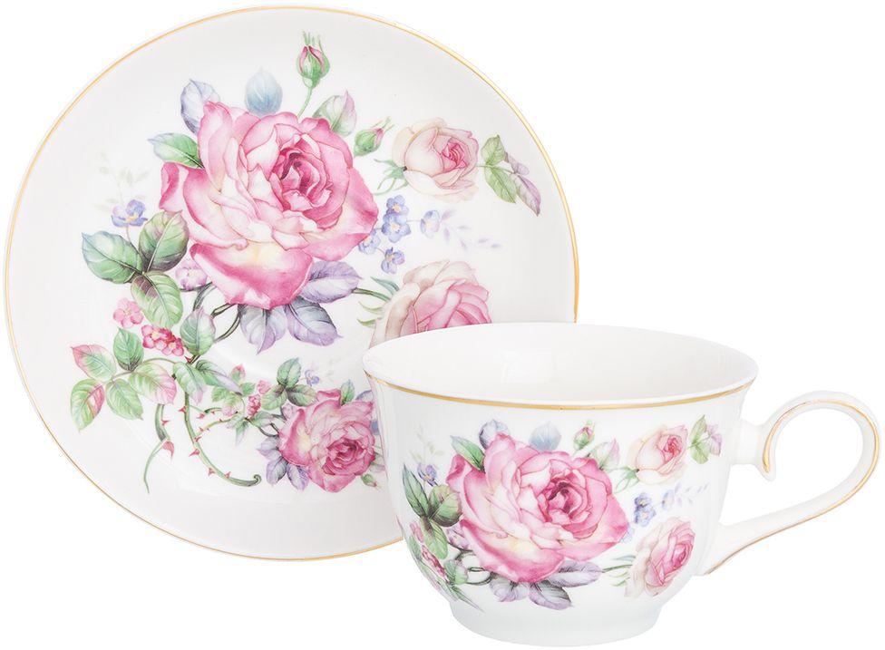 Набор чайный Elan Gallery Розовая симфония, 2 предмета181152Чайная пара на 1 персону в оригинальном дизайне украсит ваше чаепитие. В комплекте 1 чашка объемом 260 мл, 1 блюдце. Изделие имеет прозрачную подарочную упаковку с бантиком, поэтому станет желанным подарком для ваших близких, коллег и друзей!