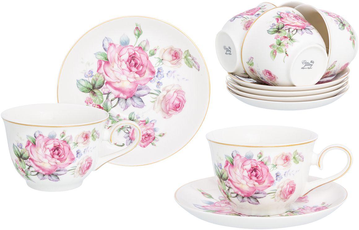 Набор чайный Elan Gallery Розовая симфония, 12 предметов
