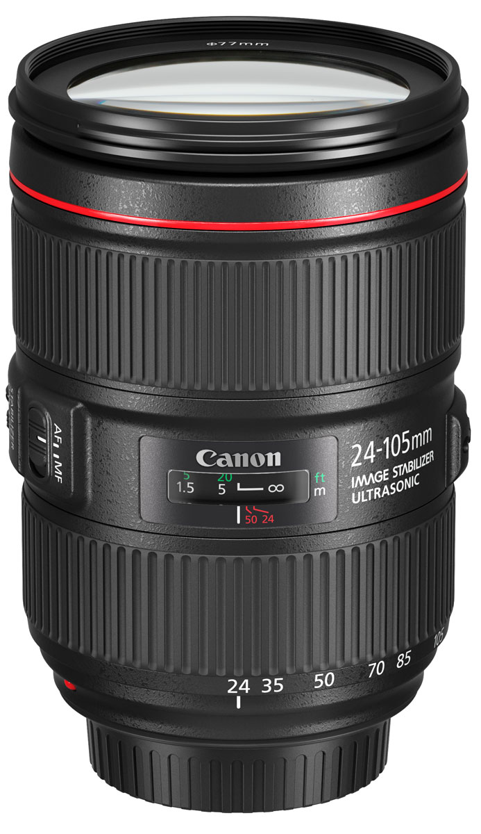 Canon EF 24-105 mm f/4L IS II USM, Black объектив canon 24 105mm f4 lens canon ef 24 105 mm f 4l is usm lenses