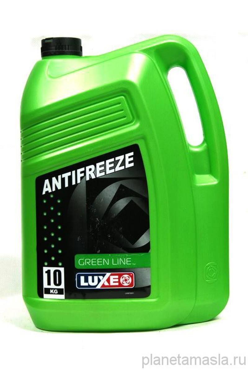 Антифриз LUXE Long Life G11, -40°С, цвет: зеленый, 10 кг672Green Line – зеленый антифриз, обеспечивающий защиту двигателя в температурном диапазоне от минус 40 до плюс 50 градусов Цельсия. Соответствует стандарту G11, а значит, в его состав входят этиленгликоль и силикатные присадки. Такие антифризы создают на поверхности деталей надежную защитную пленку, предотвращающую образование коррозии. Также эффективно устраняет накипь и поддерживает чистоту внутри системы.